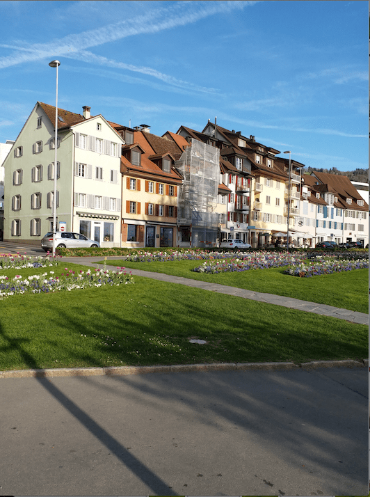 beautiful buildings at Zug, Switzerland.png