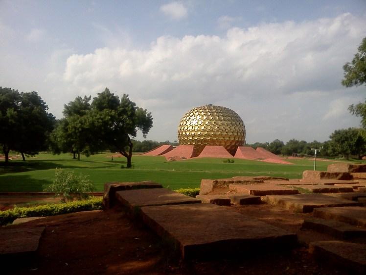 Matrimandir- the beautiful golden globe shinning in the sun.jpg