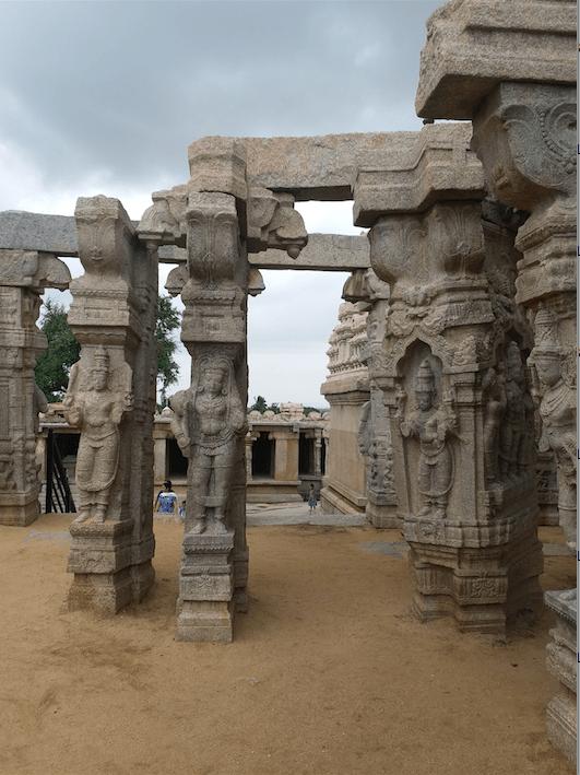 beautifully carved pillars