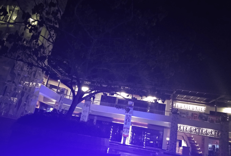 Blue lights, Lagoi plaza.png