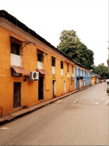 fontainhas goa- colonial houses