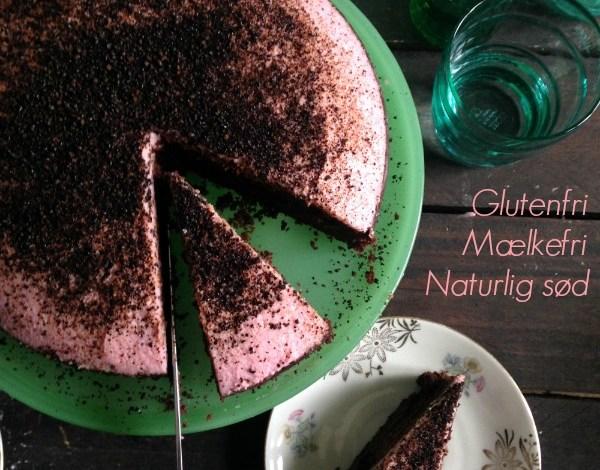 Glutenfri Chokoladekage med sorte bønner og rødbede