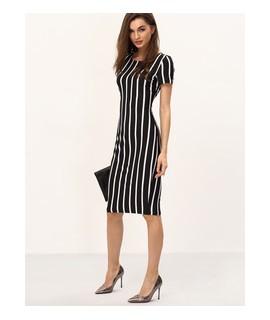 robe droite monochrome
