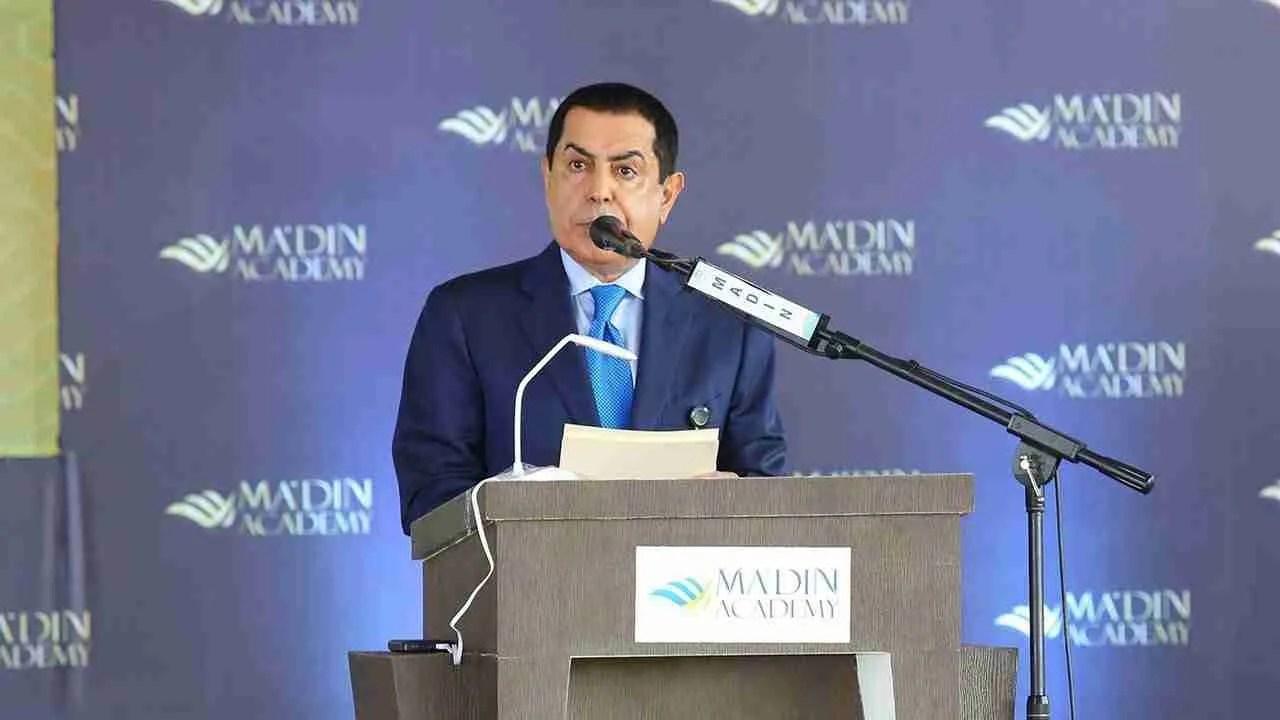 H.E Nasser Abdulaziz Al-Nasser speaks at Ma'din Edupark Inauguration