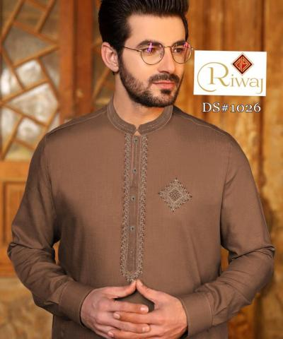 """""""RIWAJ"""" Embroided Gents Collection Different 5 Colour (vol 5 suits )"""