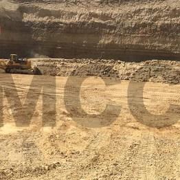Komatsu dozer work MCC phosphate mine