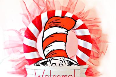 DIY Dr. Seuss Party Wreath