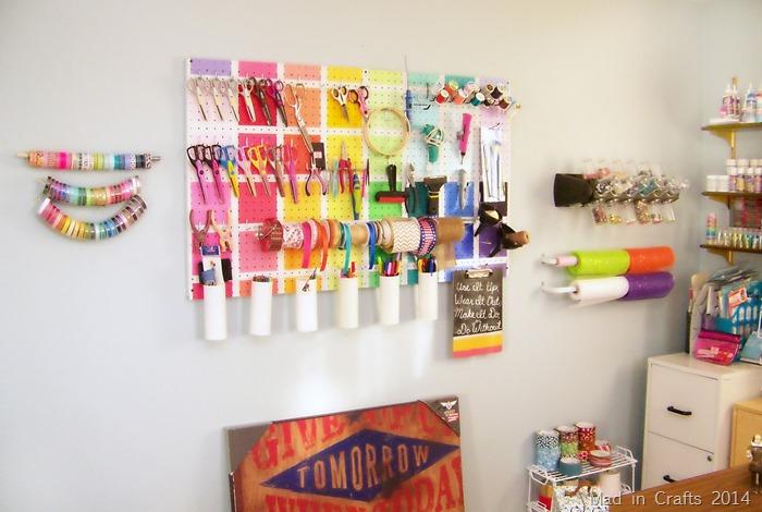 Work Room Update - Mad in Crafts