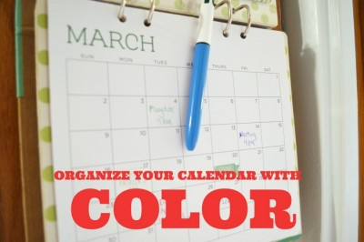 ORGANIZE YOUR CALENDAR WITH COLOR