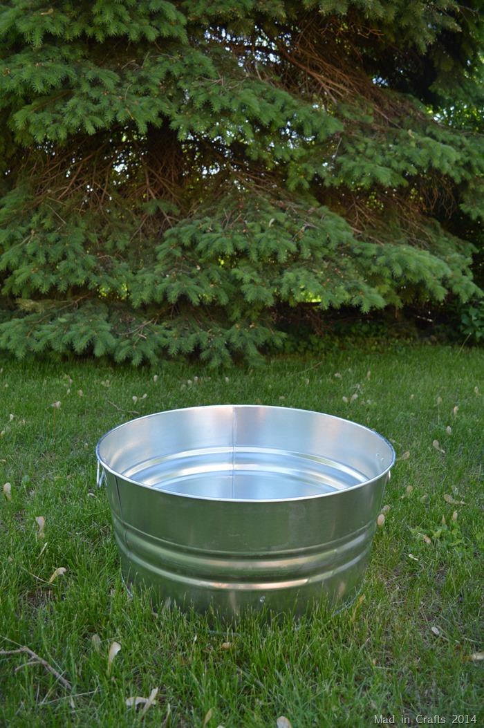 17 Gallon Galvanized Steel Tub