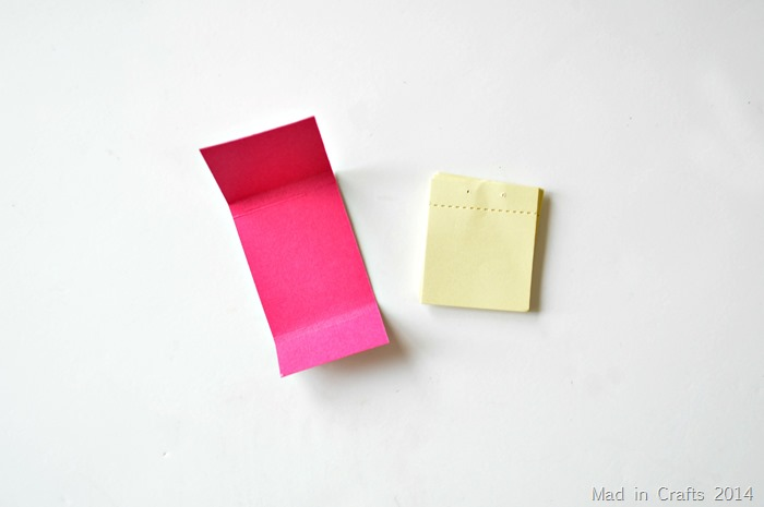 Cut cardstock to fit sticky notes