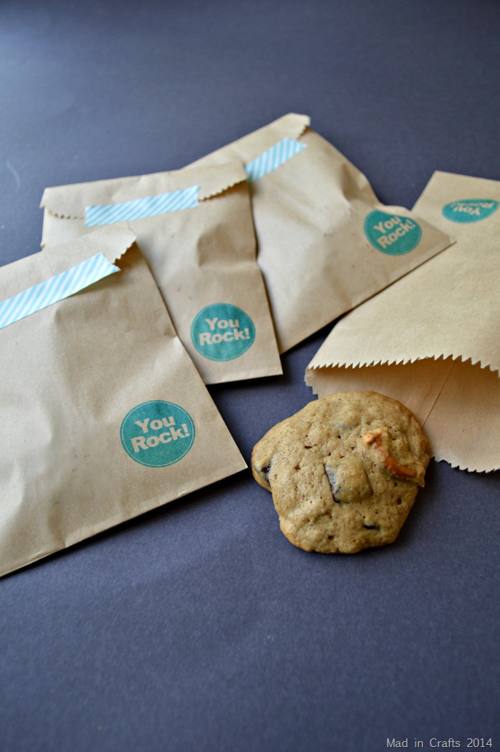 Cookies in Stamped Bags