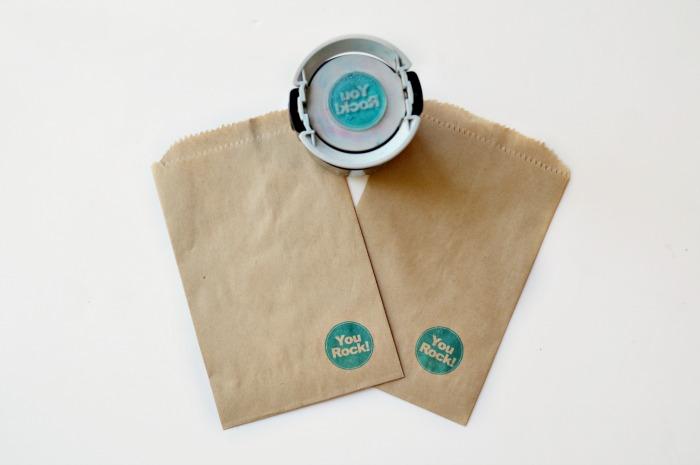 Stamped Kraft Paper Treat bags