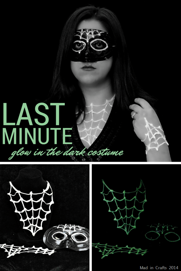 collage of glow in the dark halloween accessories