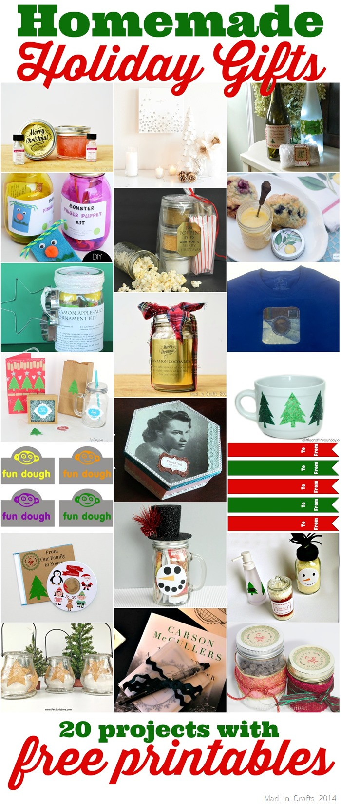 Holiday Gifts Using Printable Labels