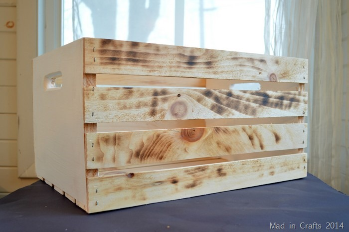 distressed wood crate