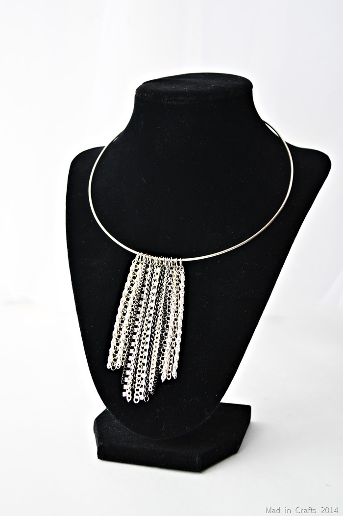 DIY Chain Waterfall Necklace