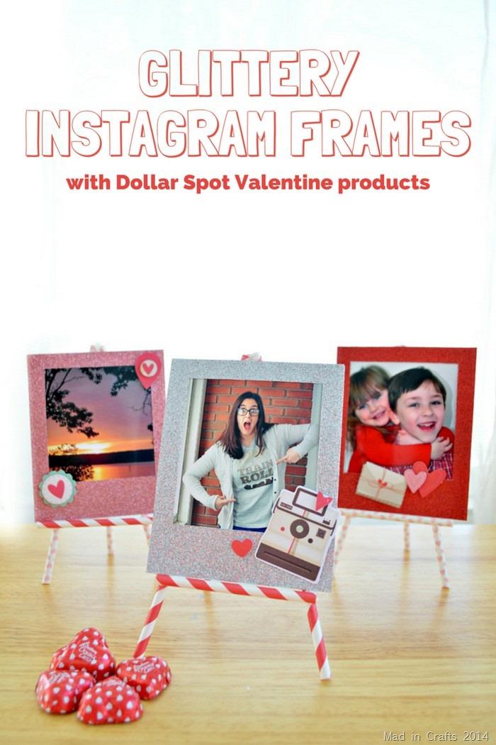 DIY Glittery Instagram Frames