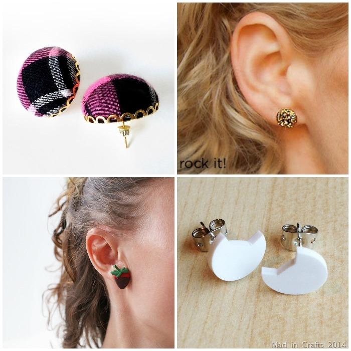 DIY Stud Earrings 1