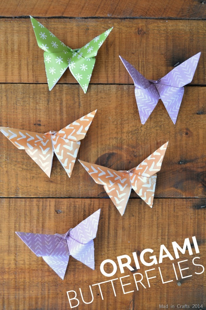 Origami Butterfly Tutorial - Mad in Crafts