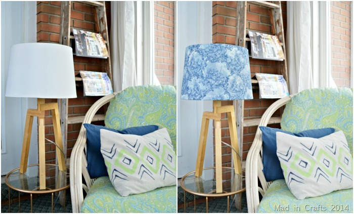 HOW TO SLIPCOVER A LAMPSHADE