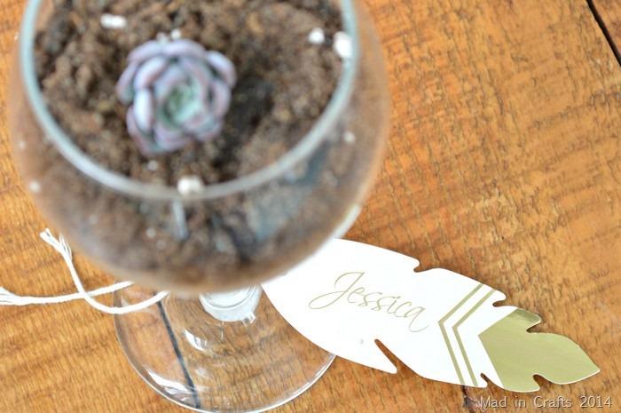 succulent place card