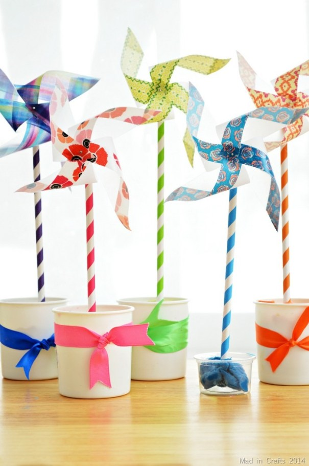 washi pinwheels