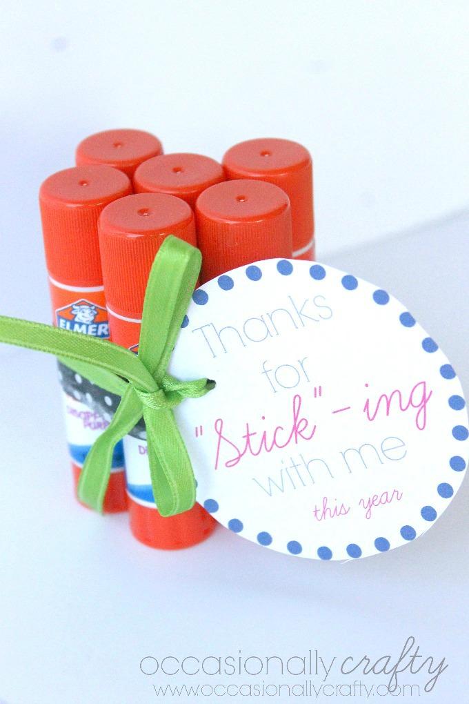 Teacher Appreciation Gift Glue Stick Label