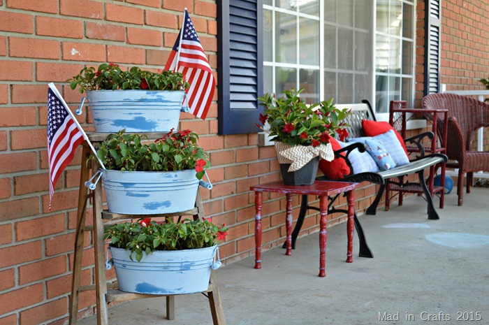 Chalky Finish Planters and Porch Decor