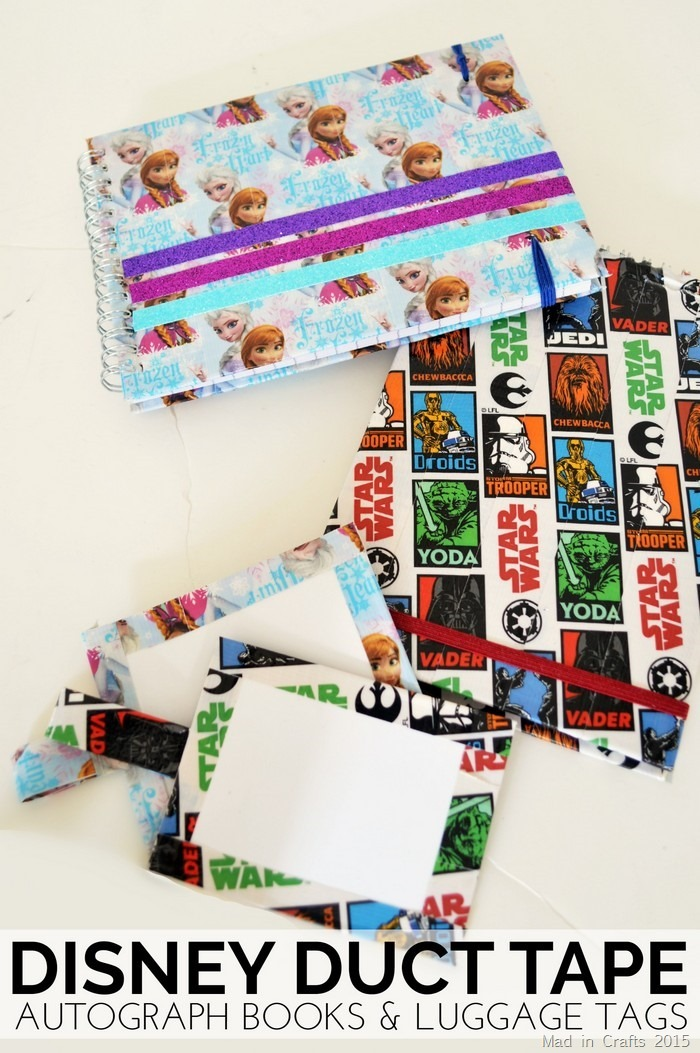 Disney Duct Tape Autograph Books and Luggage Tags