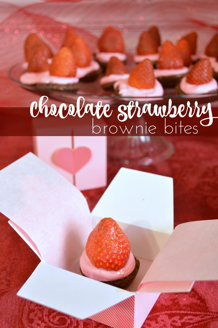Chocolate Strawberry Brownie Bites