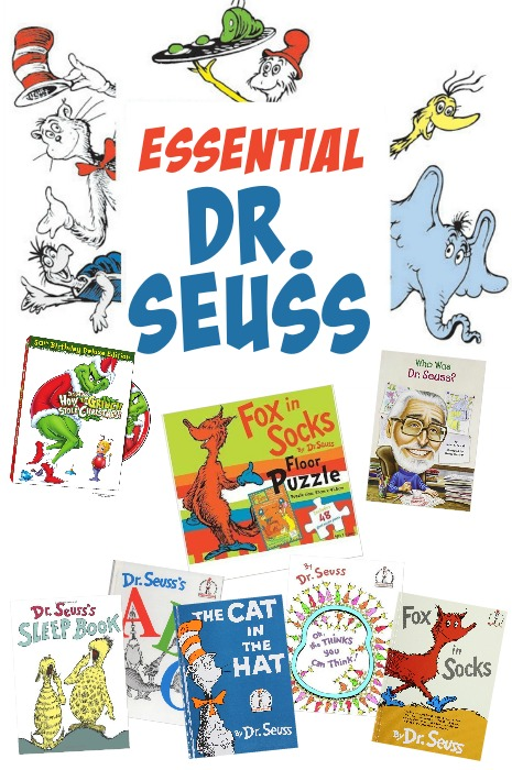 collage of Dr. Seuss characters