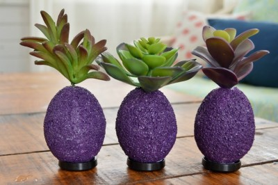 SUCCULENT TOPPED EASTER EGGS