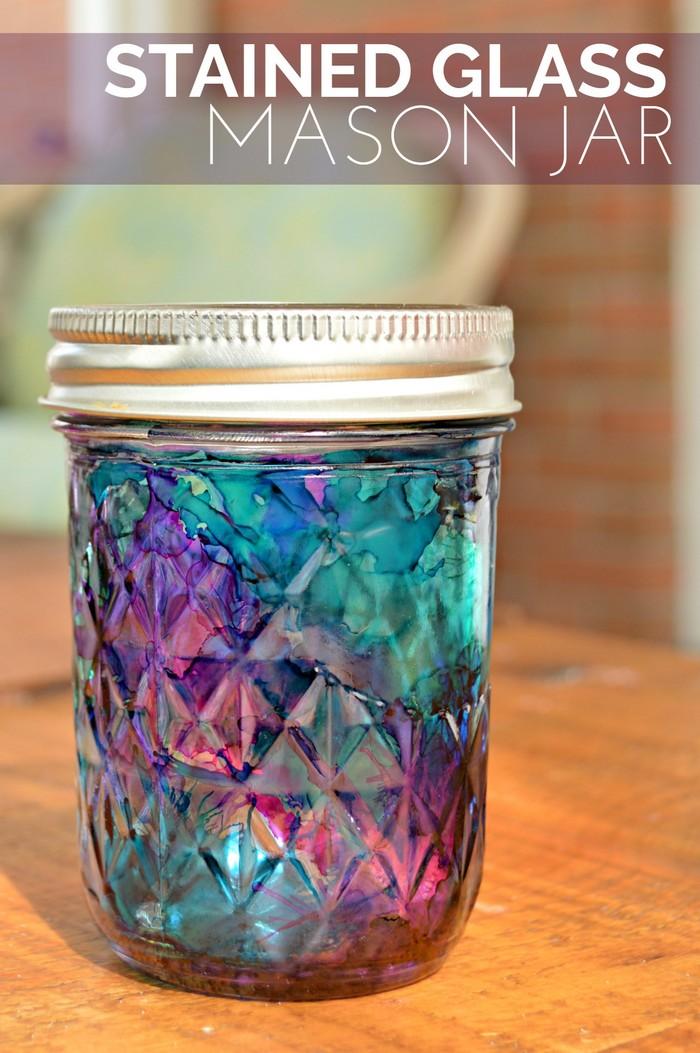 Stained Glass Mason Jar Tutorial