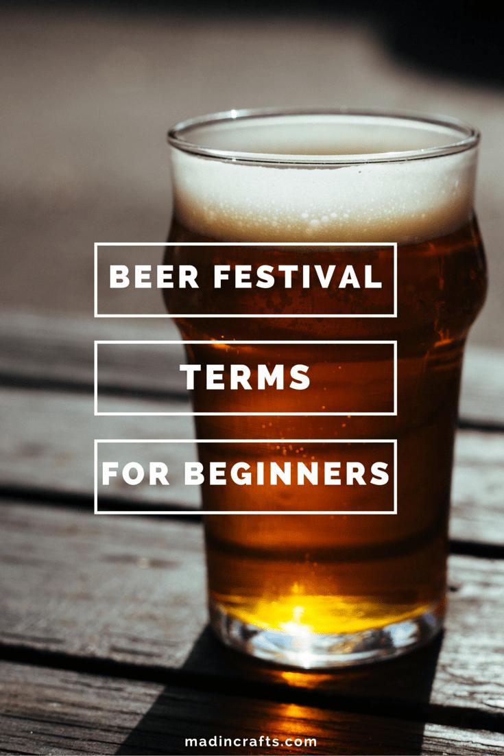 Beer Festival Terms for Beginners