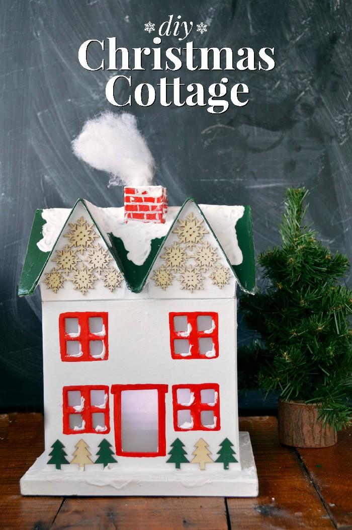 diy-christmas-cottage-decoration