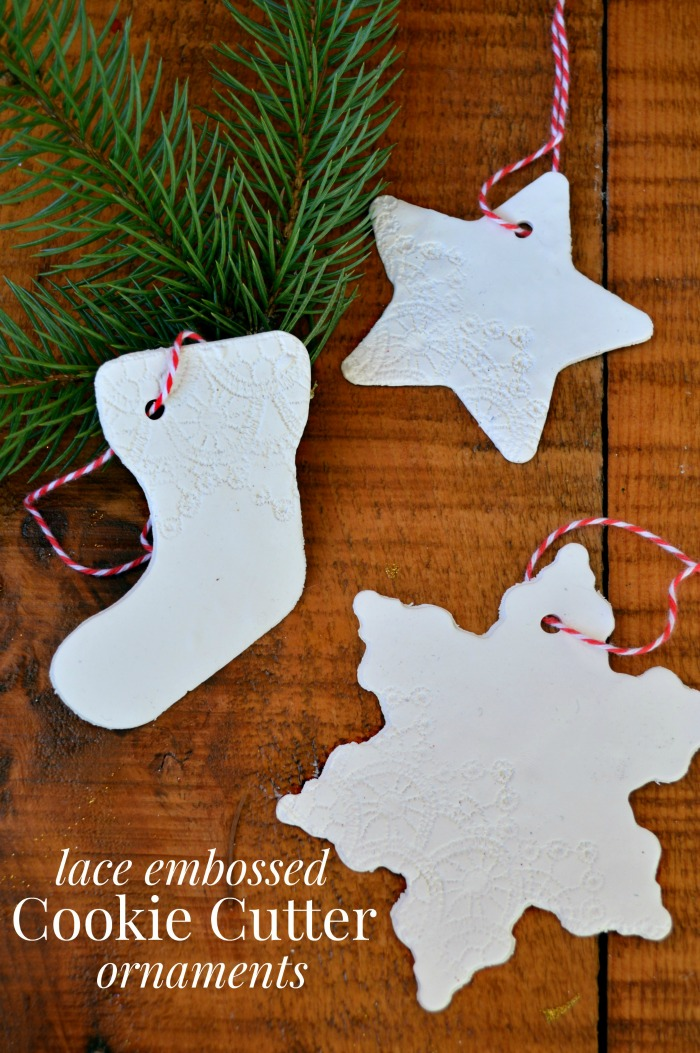 LACE EMBOSSED CLAY ORNAMENTS
