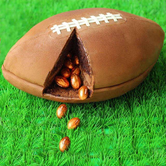 3-D-football-cake-filled-with-chocolate-footballs-