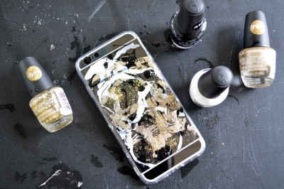 NAIL POLISH MARBLED PHONE CASE