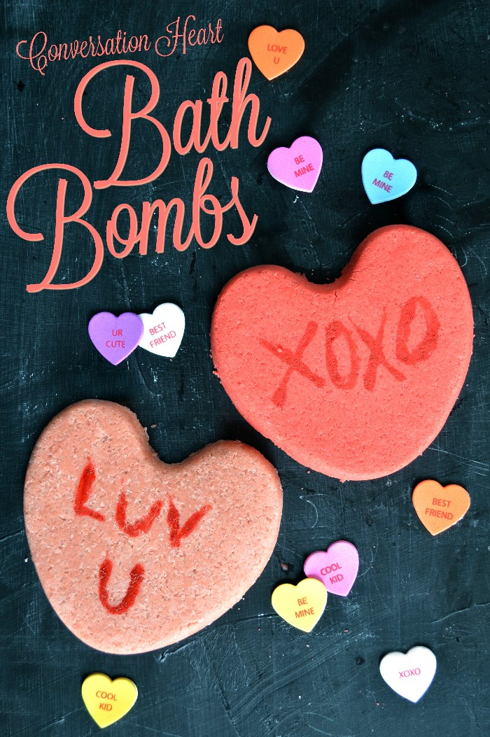diy conversation Heart shaped Bath bombs on a black background