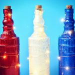 DOLLAR STORE GLITTERED BOTTLE LIGHTS