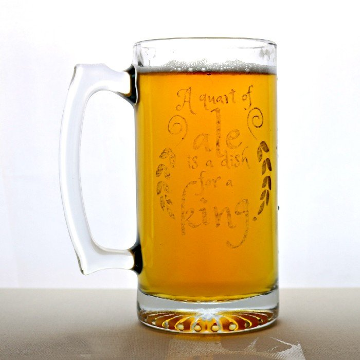 ETCHED DOLLAR STORE BEER MUG