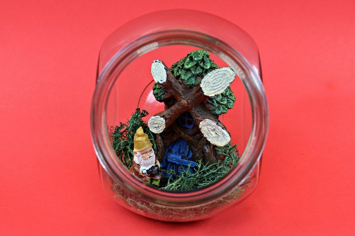 DOLLAR STORE GNOME HOME IN A JAR