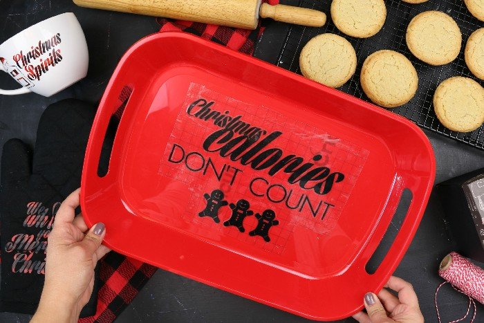 """""""CHRISTMAS CALORIES DON'T COUNT"""" COOKIE TRAY"""