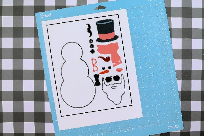 Cricut print then cut snowman paper doll