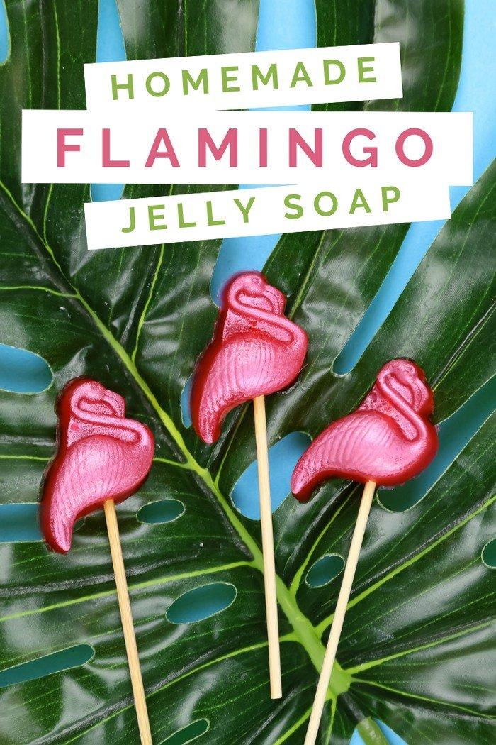 HOW TO MAKE FLAMINGO JELLY SOAP