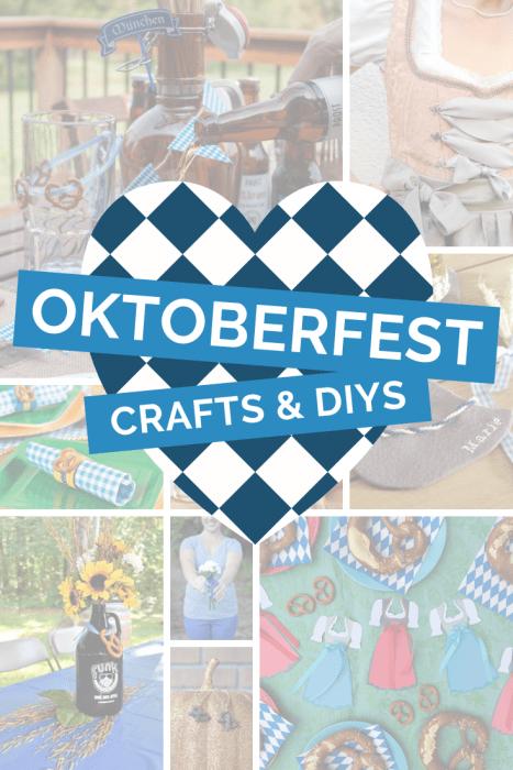 Collage of Oktoberfest Crafts and DIYS