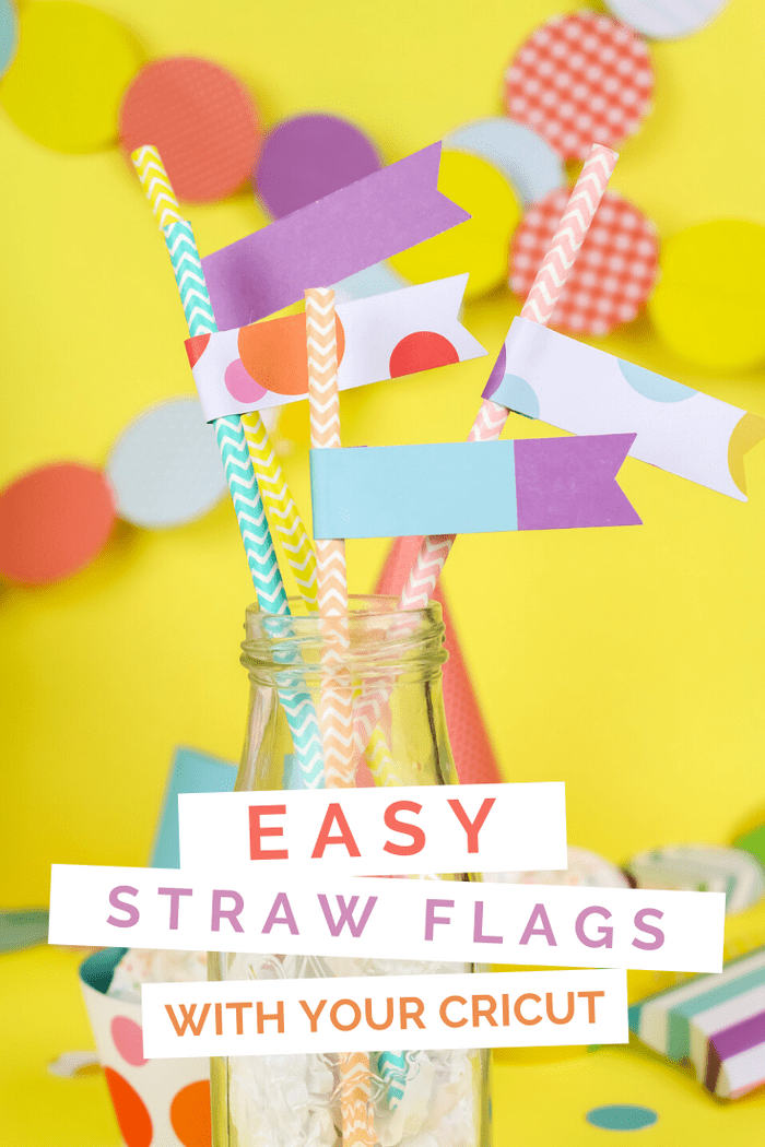 colorful DIY paper straw flags in a bottle
