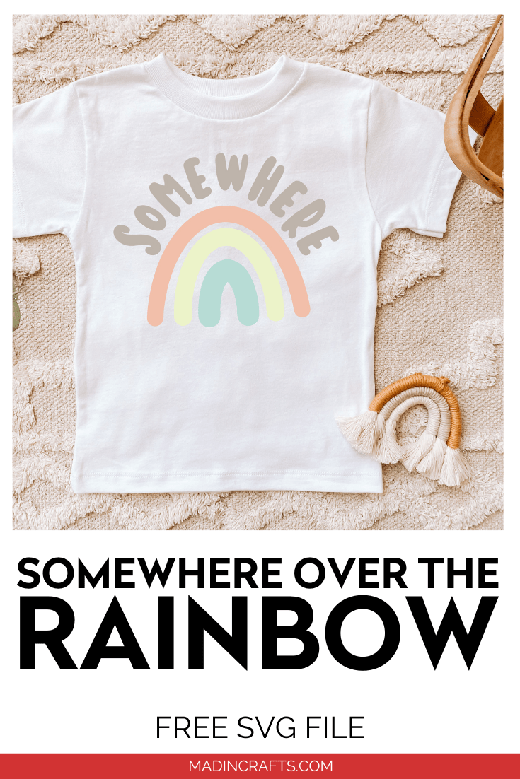 FREE SOMEWHERE OVER THE RAINBOW SVG