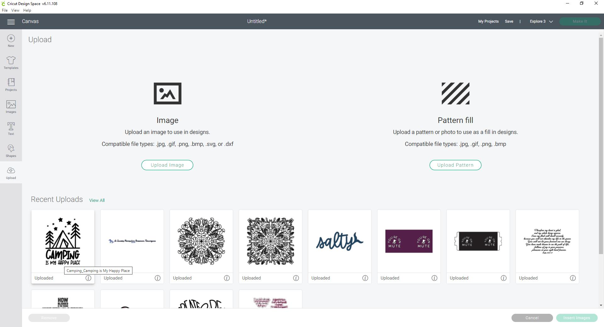 Cricut Design Space upload SVG